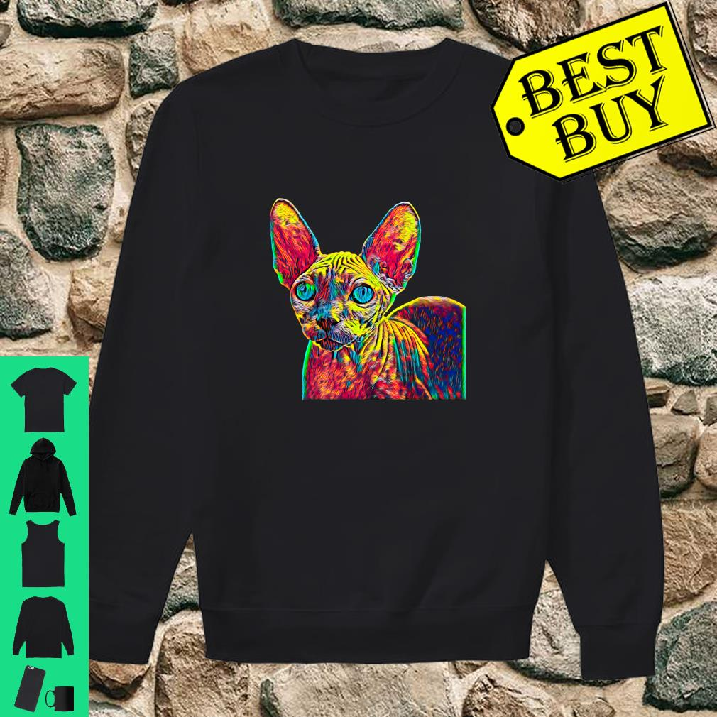Colorful Sphynx Cat shirt sweater