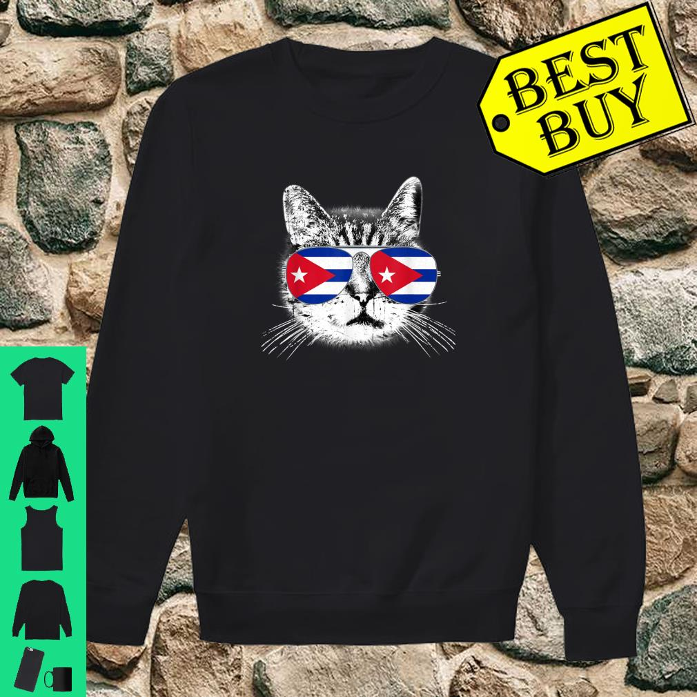 Cuba Cuban Flag Cat Country Pride Vintage Gift Shirt sweater