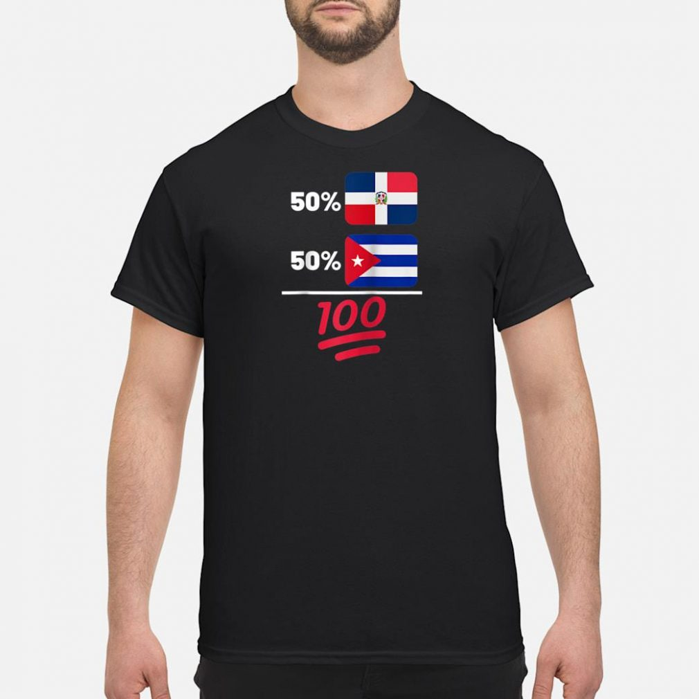 Cuban Plus Dominican Mix Flag Heritage Gift Shirt