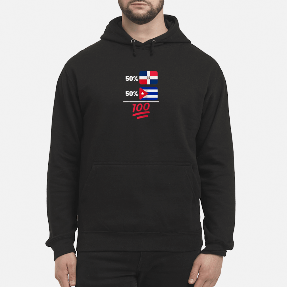 Cuban Plus Dominican Mix Flag Heritage Gift Shirt hoodie