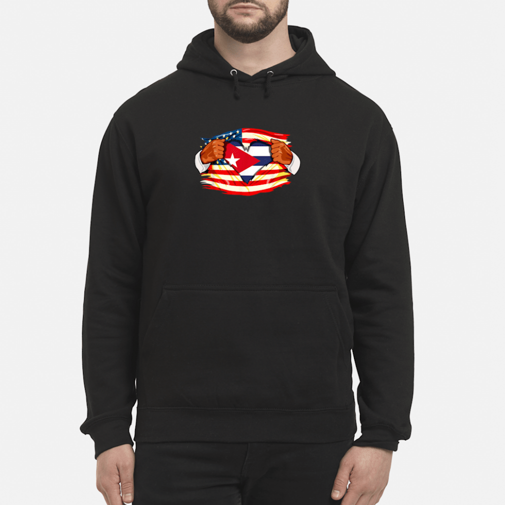 Cubans Who Live in America Cuba Flag Gift Shirt hoodie