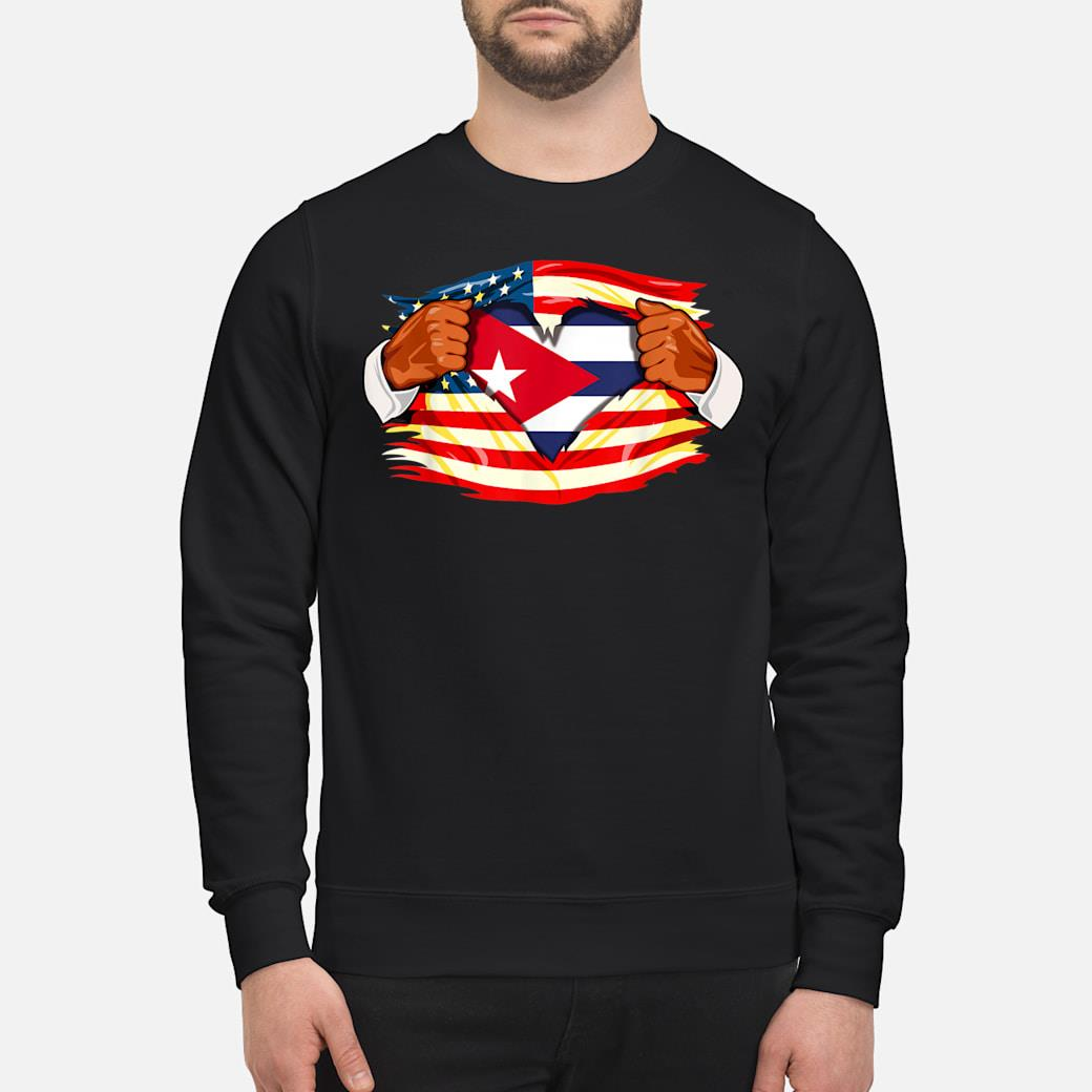 Cubans Who Live in America Cuba Flag Gift Shirt sweater
