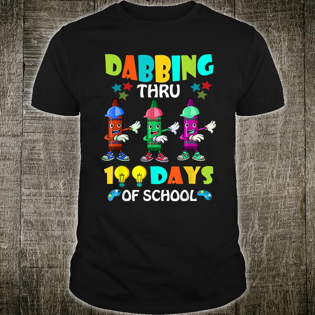 100 Days Of School Crayon Youth T Shirt