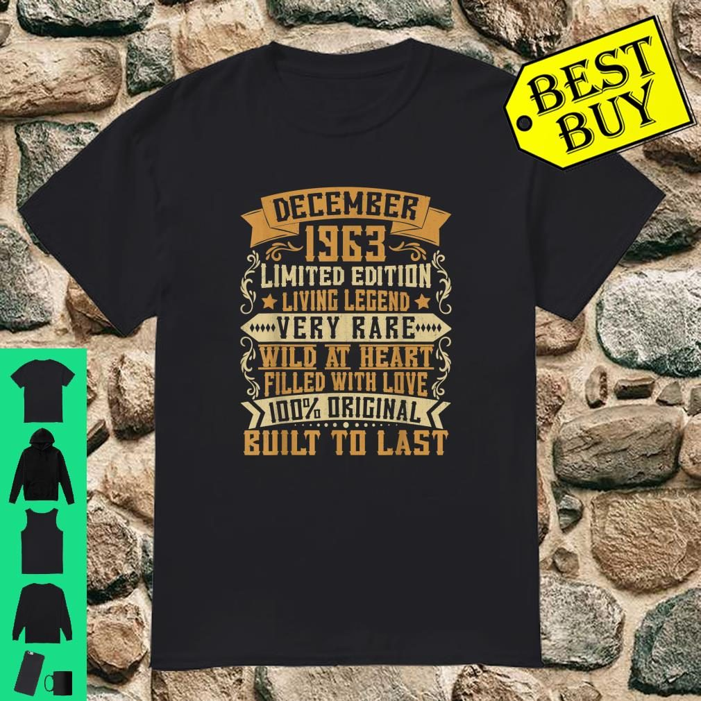 December 1963 Vintage Outfit 56th Birthday Gifts 56th Bday Shirt