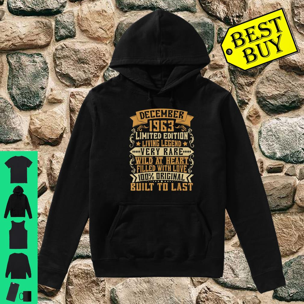 December 1963 Vintage Outfit 56th Birthday Gifts 56th Bday Shirt hoodie