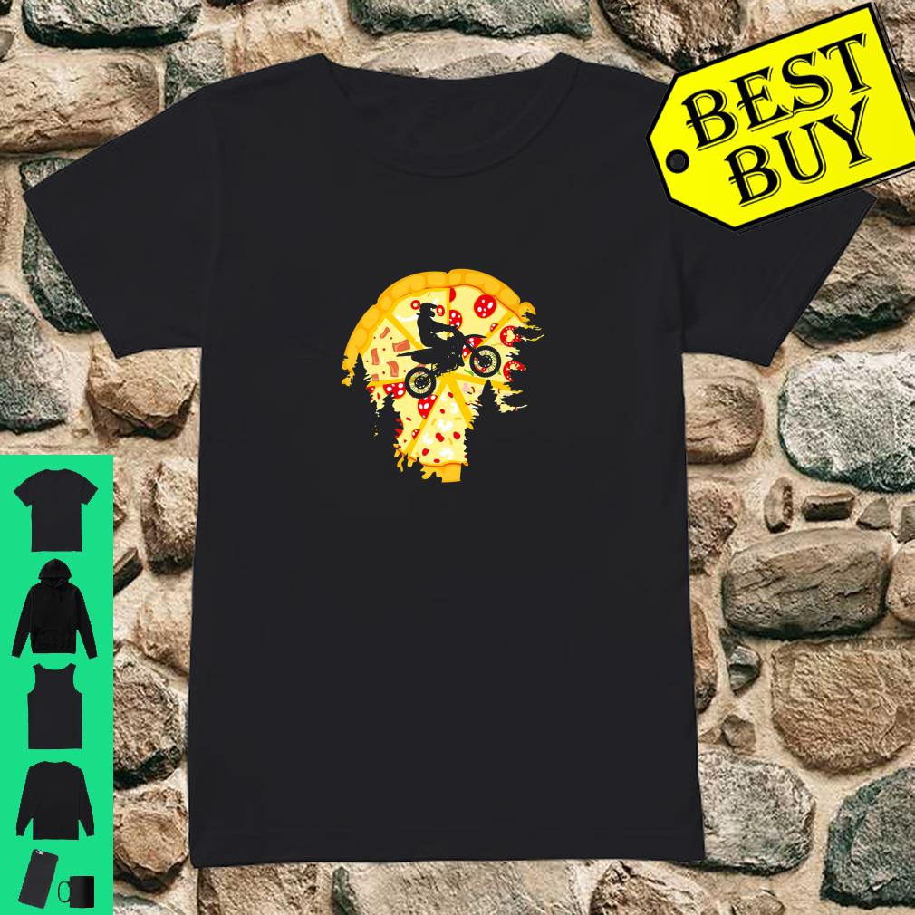 Dirt Bike Shirt For Motocross Riders Pizza Shirt ladies tee