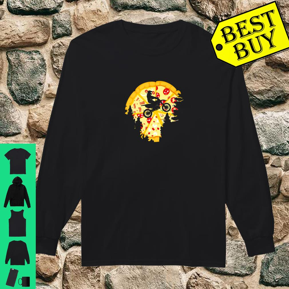 Dirt Bike Shirt For Motocross Riders Pizza Shirt long sleeved