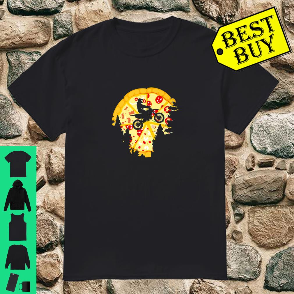 Dirt Bike Shirt For Motocross Riders Pizza Shirt