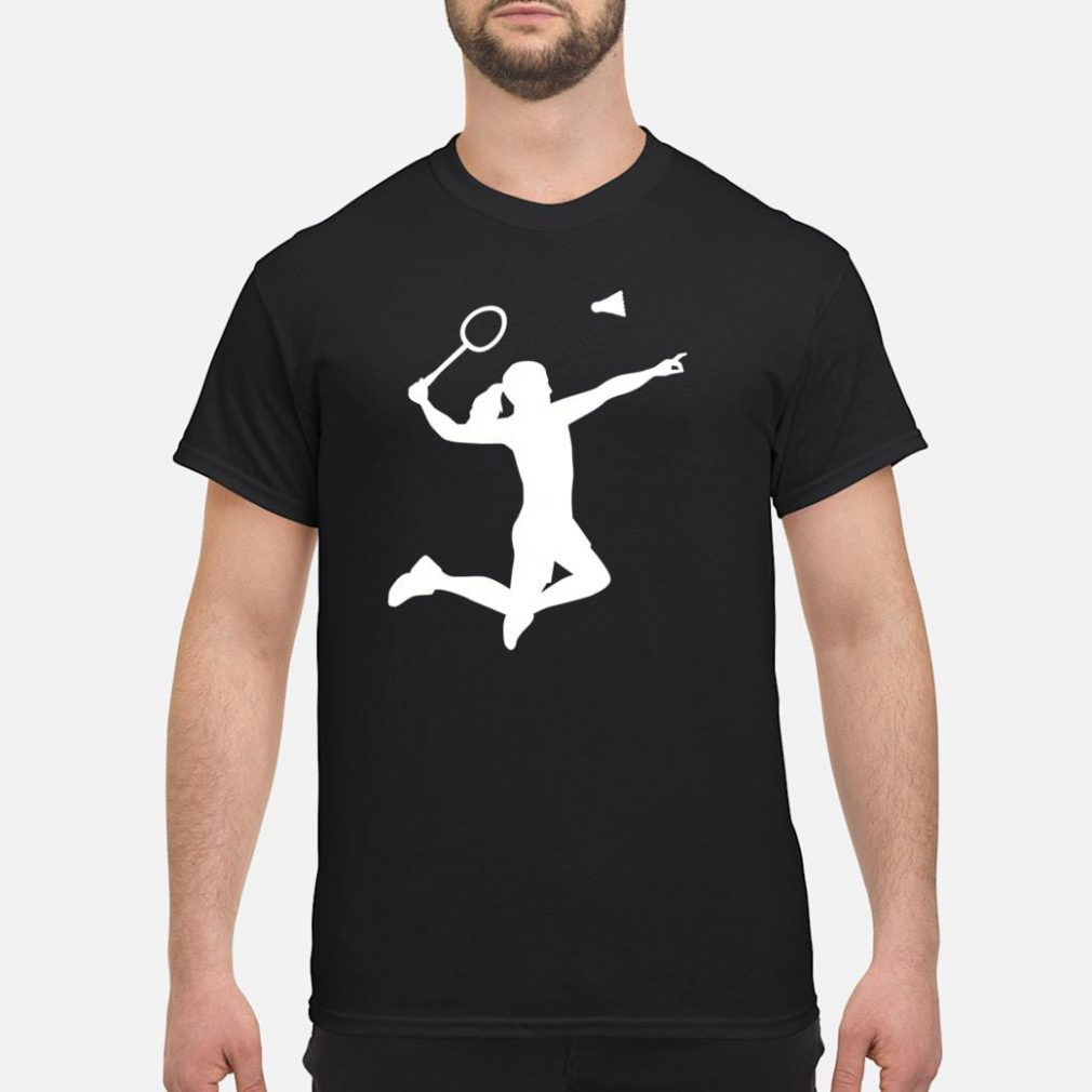 Female badminton player shirt