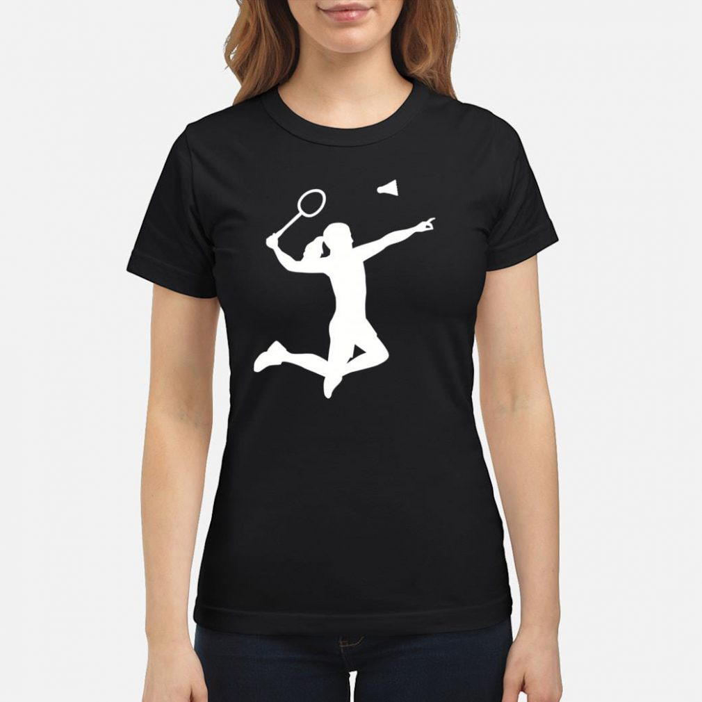 Female badminton player shirt ladies tee