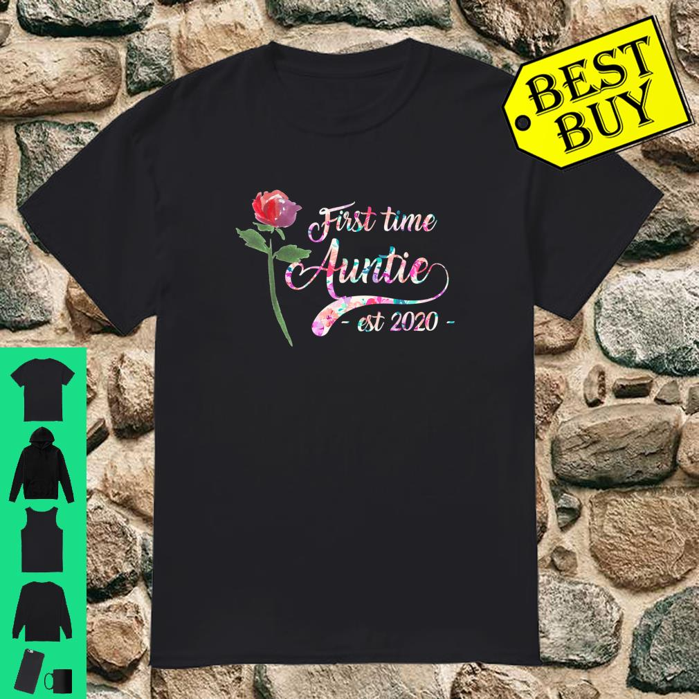 First time auntie est 2020 New Aunt To Be Shirt