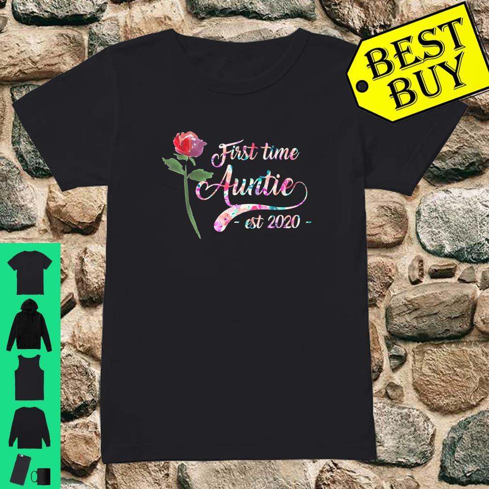 First time auntie est 2020 New Aunt To Be Shirt ladies tee
