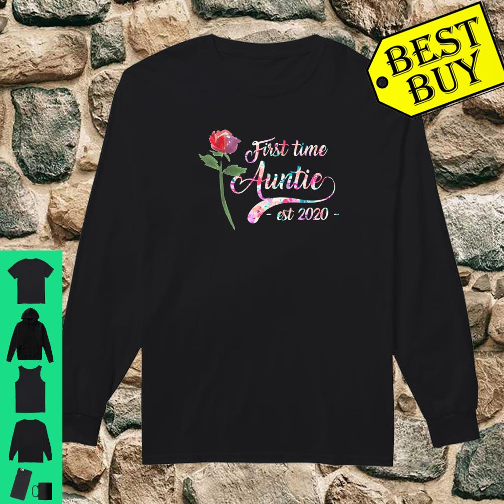 First time auntie est 2020 New Aunt To Be Shirt long sleeved