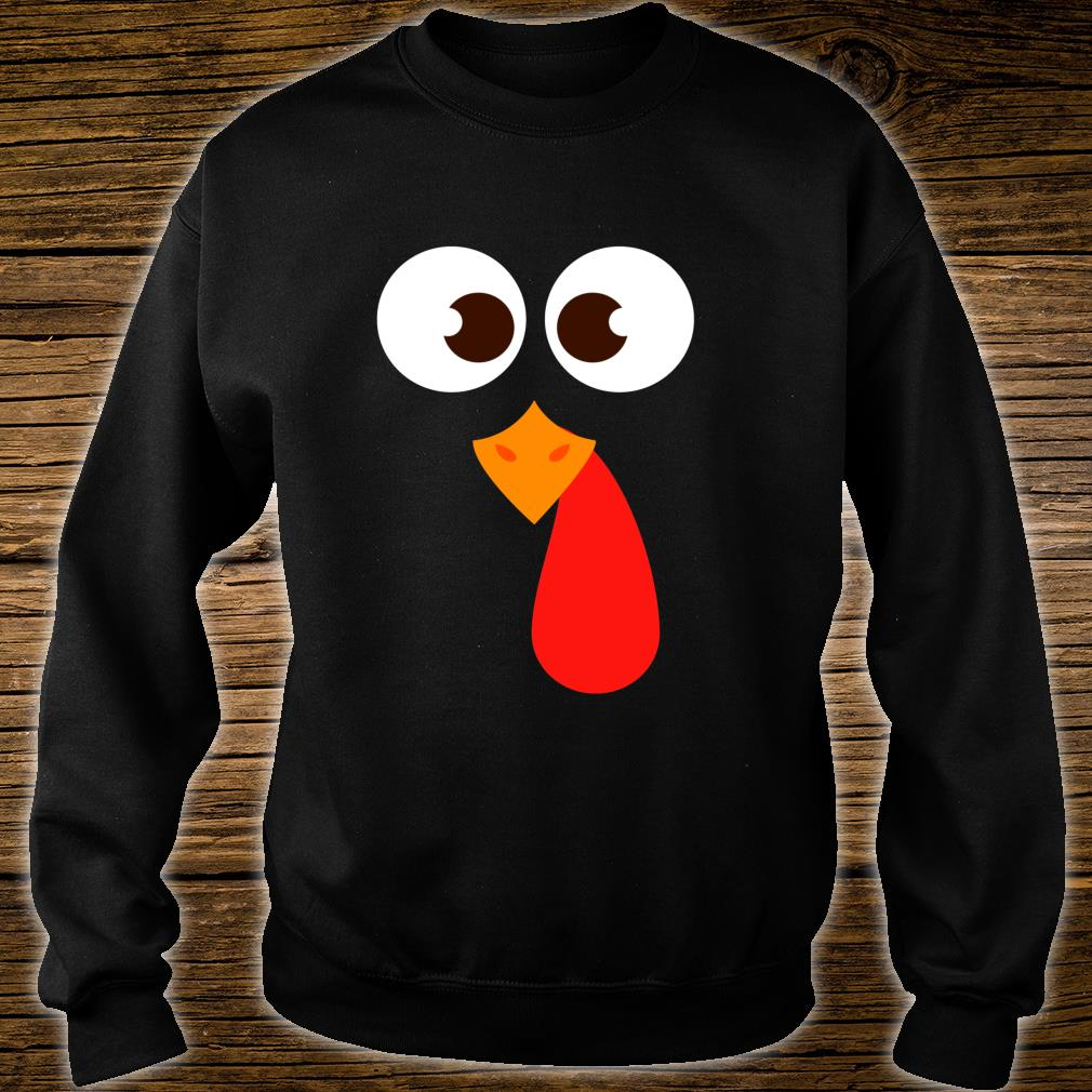Funny Thanksgiving Turkey Face Costume Shirt sweater