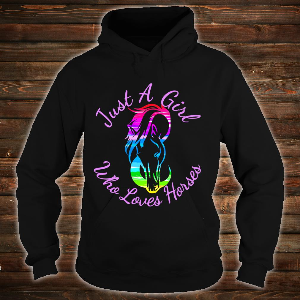 Gift Horse Just A Girl Who Loves Horses Horseback Riding Shirt hoodie