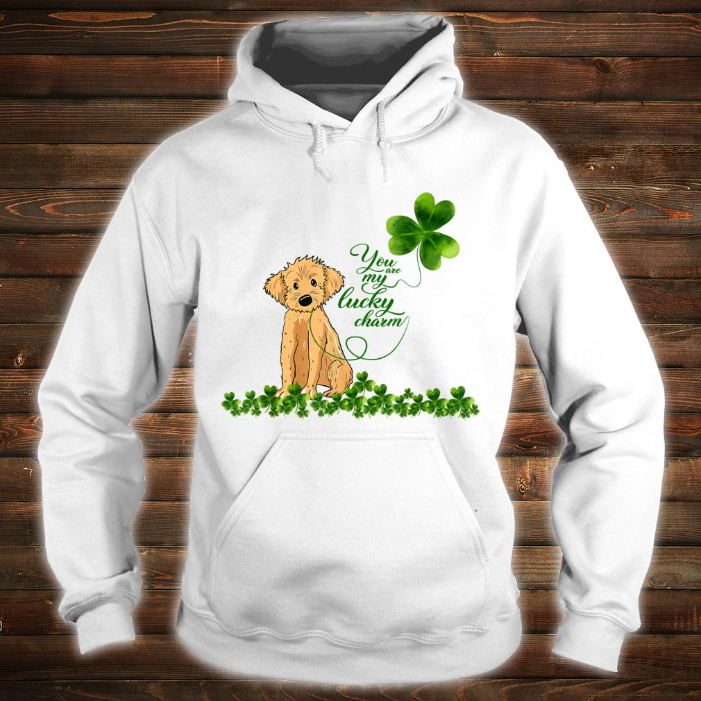 Golden Doodle Dog You Are My Lucky Charm Paddys Day Shirt hoodie