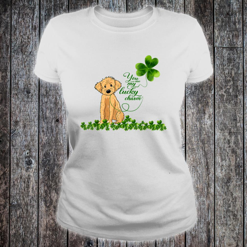Golden Doodle Dog You Are My Lucky Charm Paddys Day Shirt ladies tee