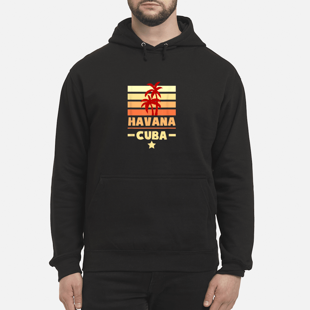 Havana Cuba Sunset Colors with Stripes and Star gift Shirt hoodie