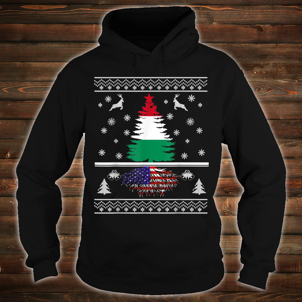 Hungary Grown With American Roots Christmas Shirt hoodie