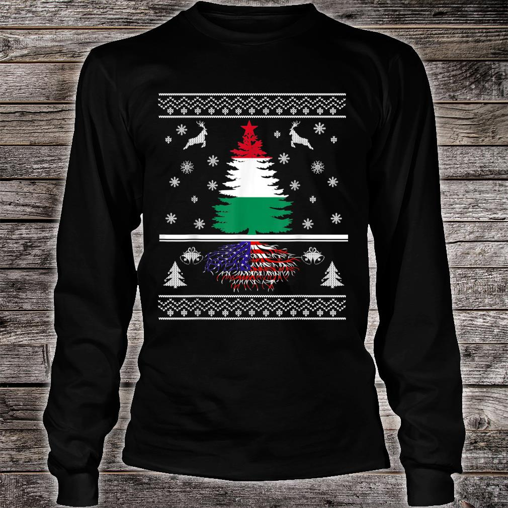 Hungary Grown With American Roots Christmas Shirt long sleeved