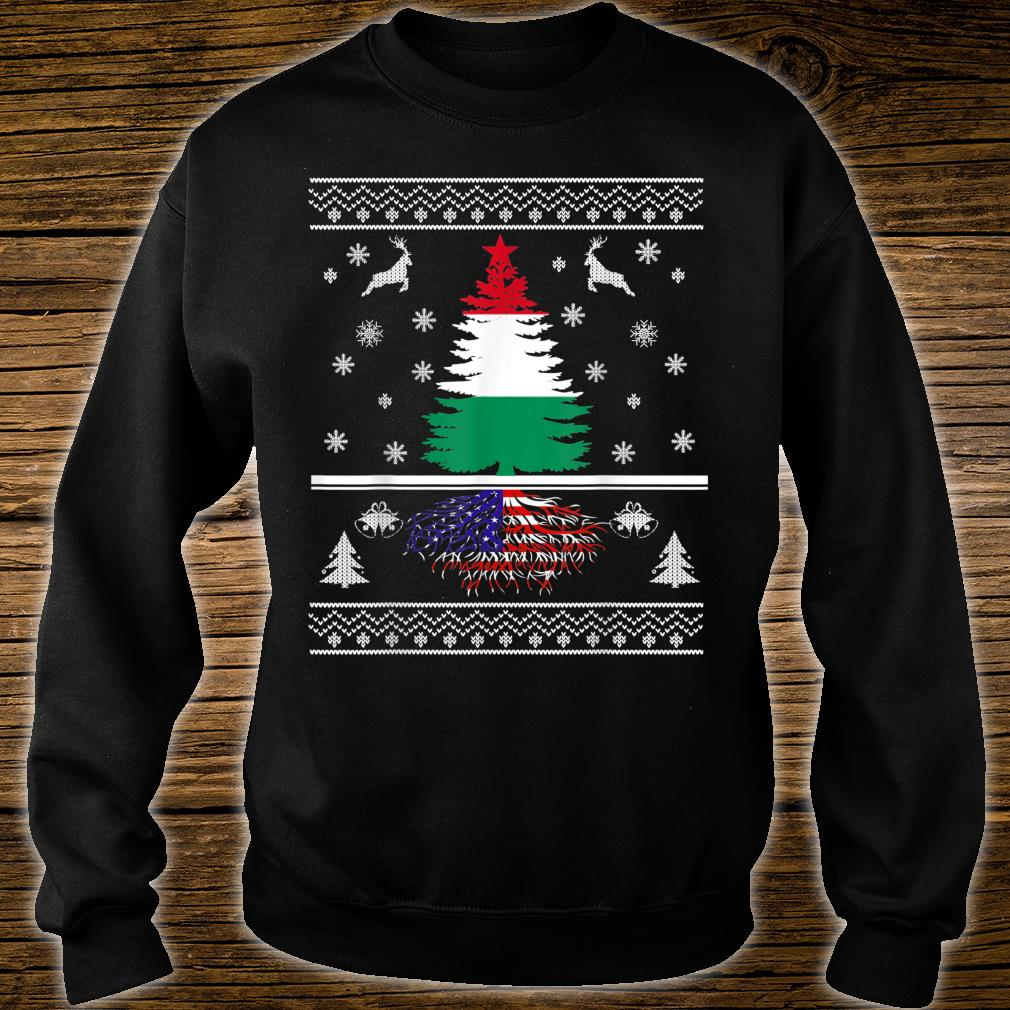 Hungary Grown With American Roots Christmas Shirt sweater