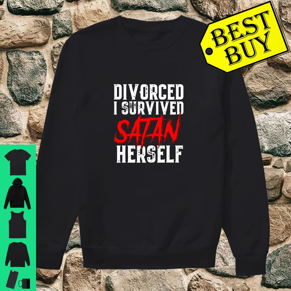 I Survived Satan Herself 's Divorce Announcement Langarm Shirt sweater