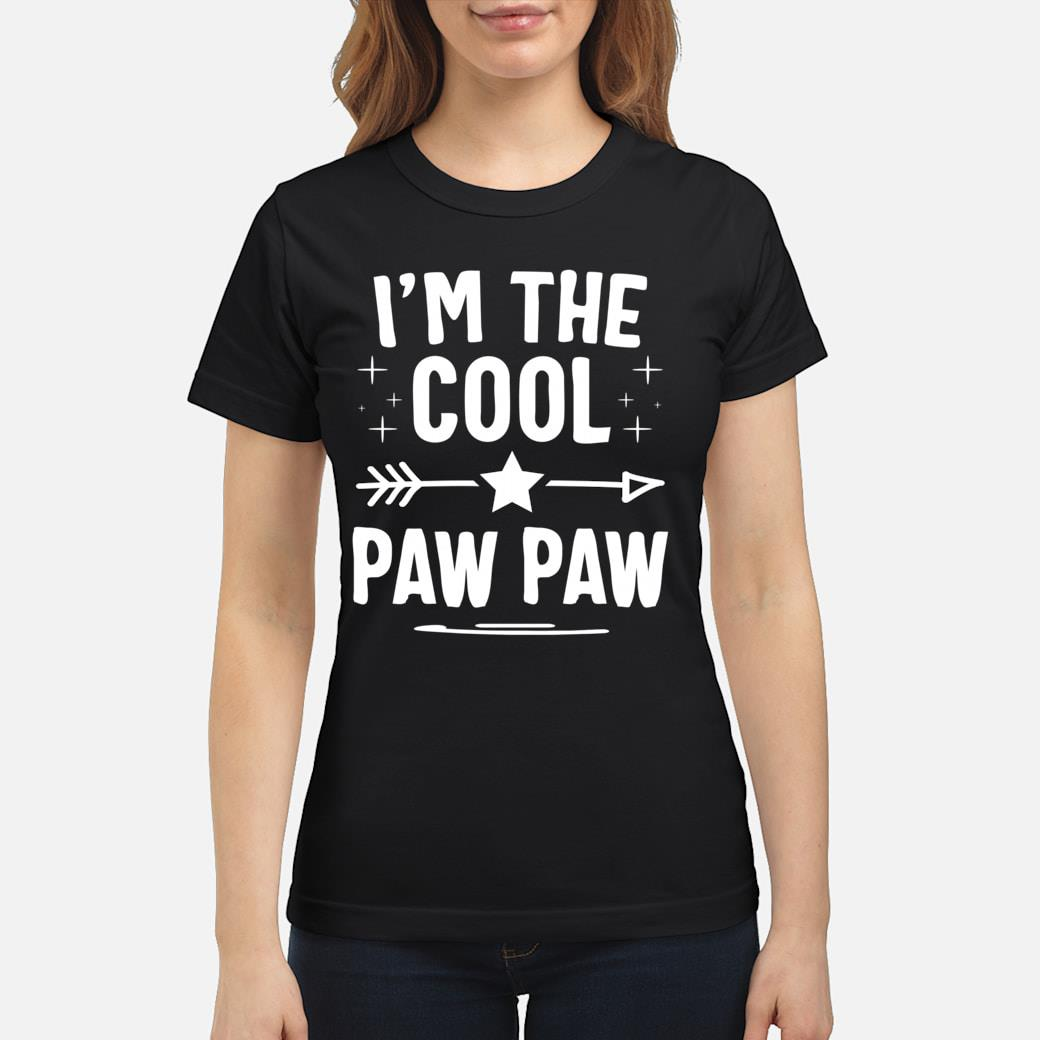 I'm The Cool Paw Paw Fathers Day Gifts shirt ladies tee