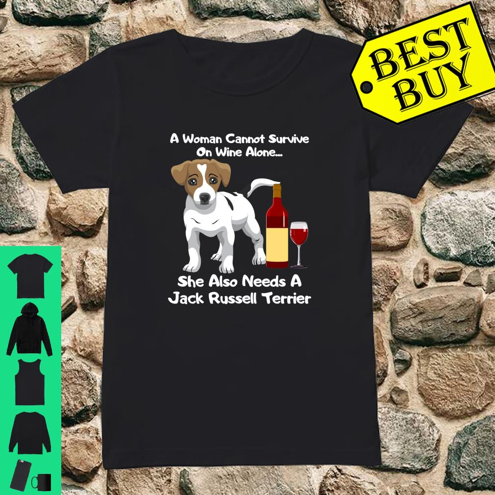 Jack Russell Terrier Parson Russell Wine For Her Shirt ladies tee
