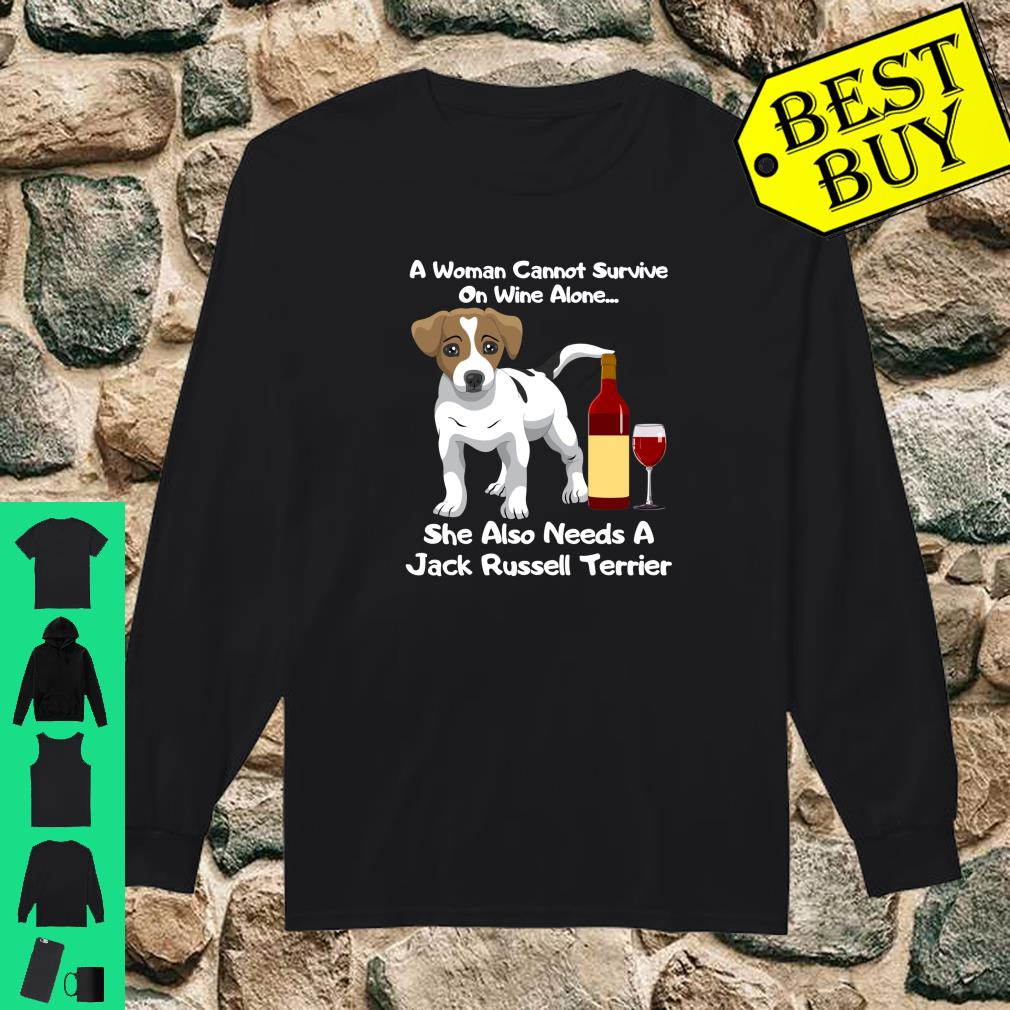 Jack Russell Terrier Parson Russell Wine For Her Shirt long sleeved