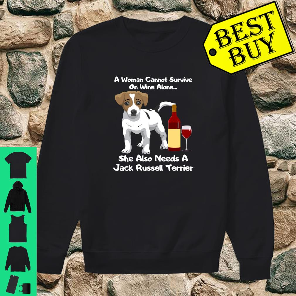 Jack Russell Terrier Parson Russell Wine For Her Shirt sweater