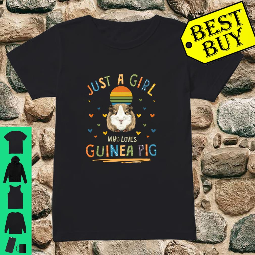 Just a Girl Who Loves Guinea Pig shirt ladies tee