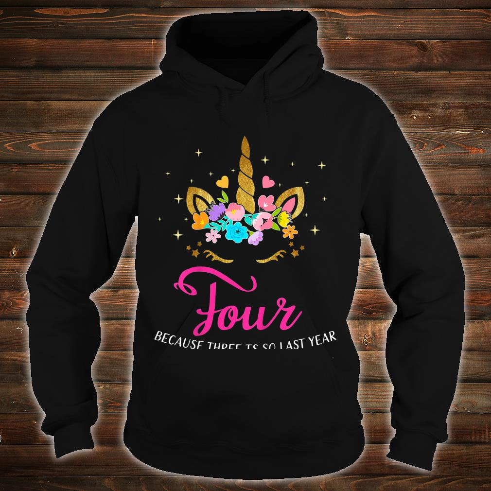 Kids 4 Years Old Birthday Unicorn 4th Birthday Shirt hoodie