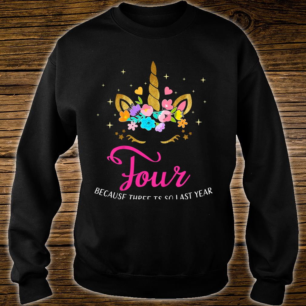 Kids 4 Years Old Birthday Unicorn 4th Birthday Shirt sweater