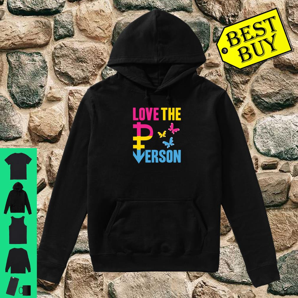 LGBT Pansexual Pride Flag Love The Person Pan Symbol Shirt hoodie