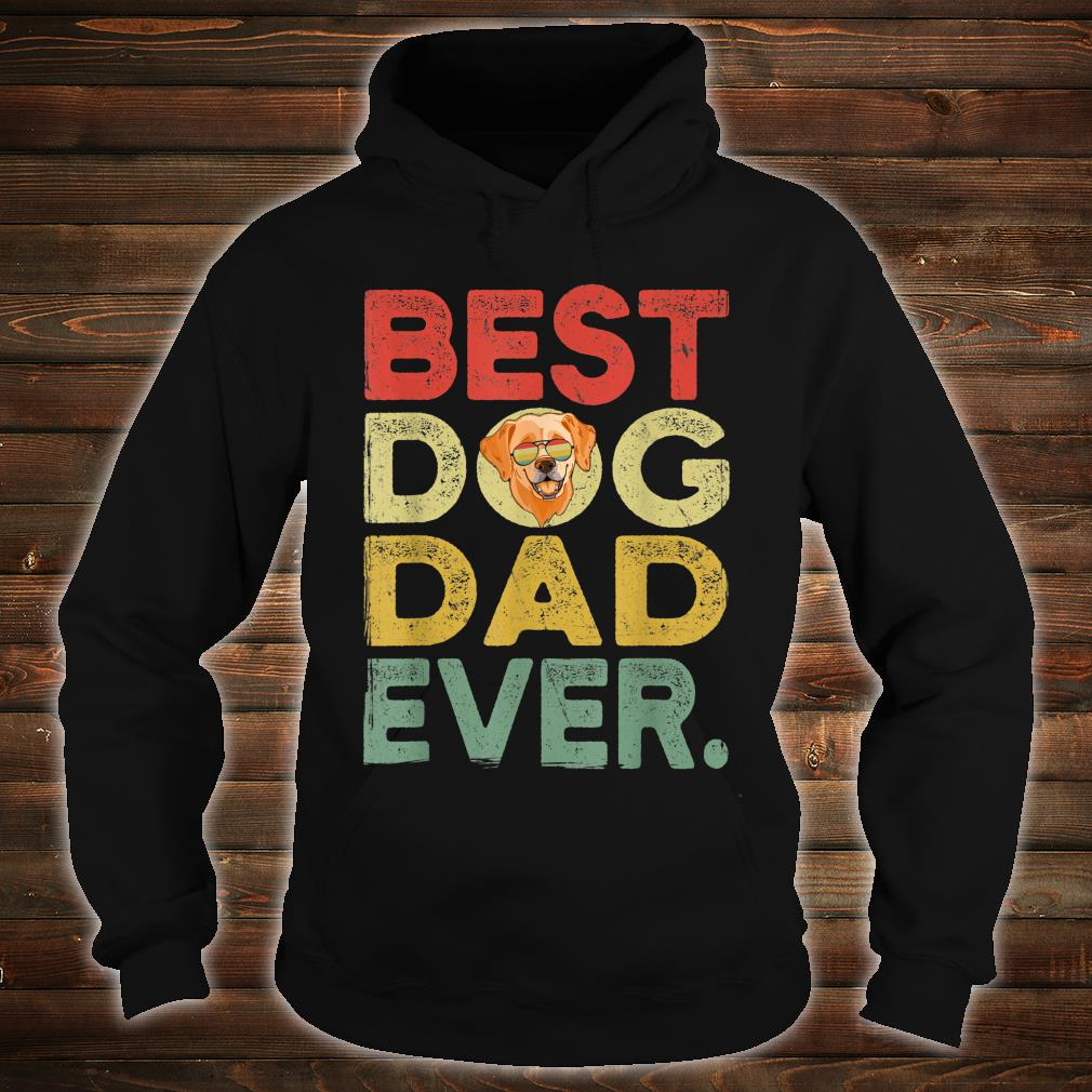 Labrador Best Dog Dad Ever Cool Father's Day Shirt hoodie