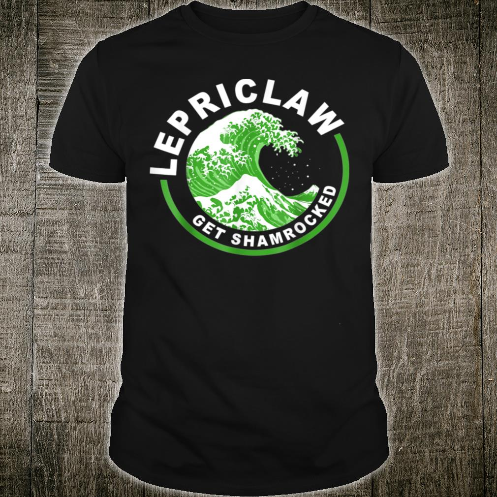 Lepriclaw Get Shamrocked Drinking St Patrick's Day Claw Shirt