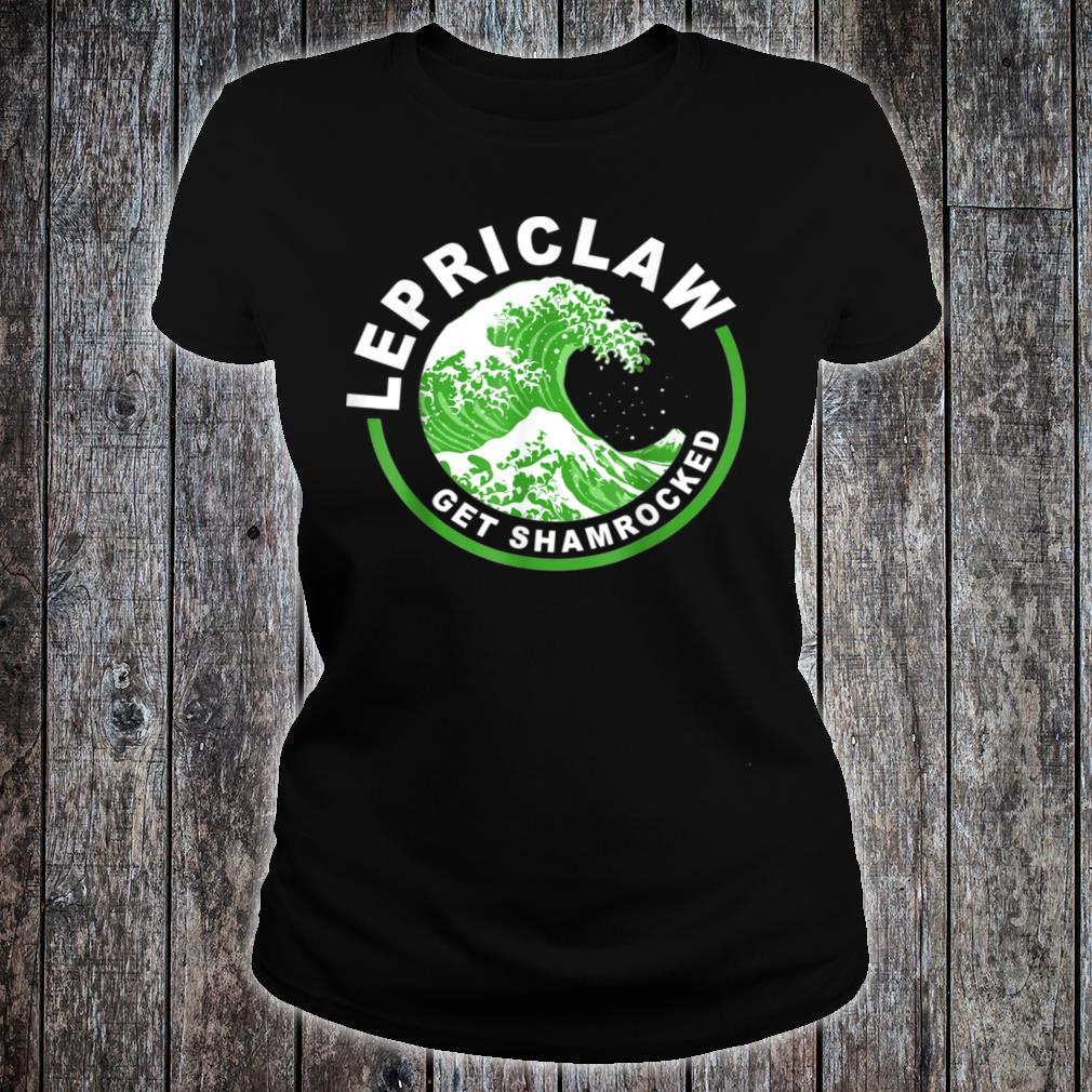 Lepriclaw Get Shamrocked Drinking St Patrick's Day Claw Shirt ladies tee