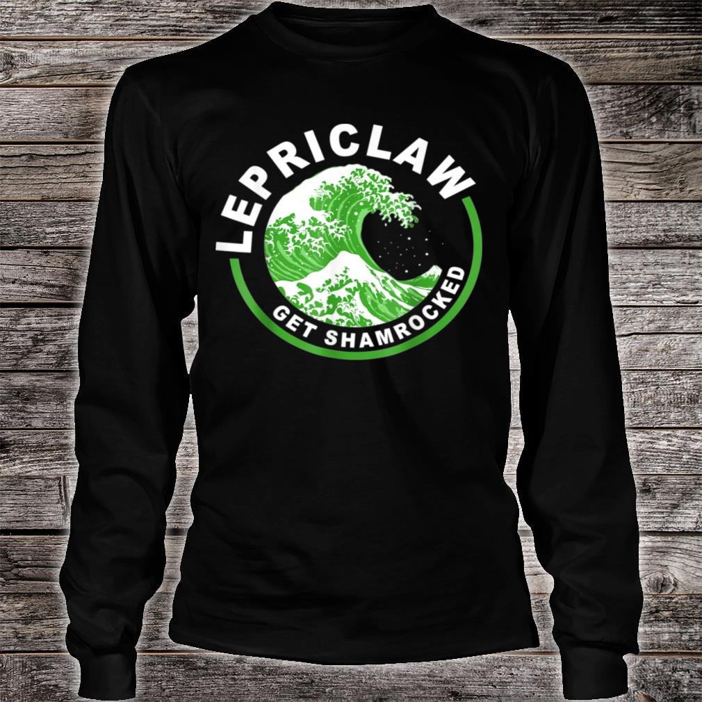 Lepriclaw Get Shamrocked Drinking St Patrick's Day Claw Shirt long sleeved