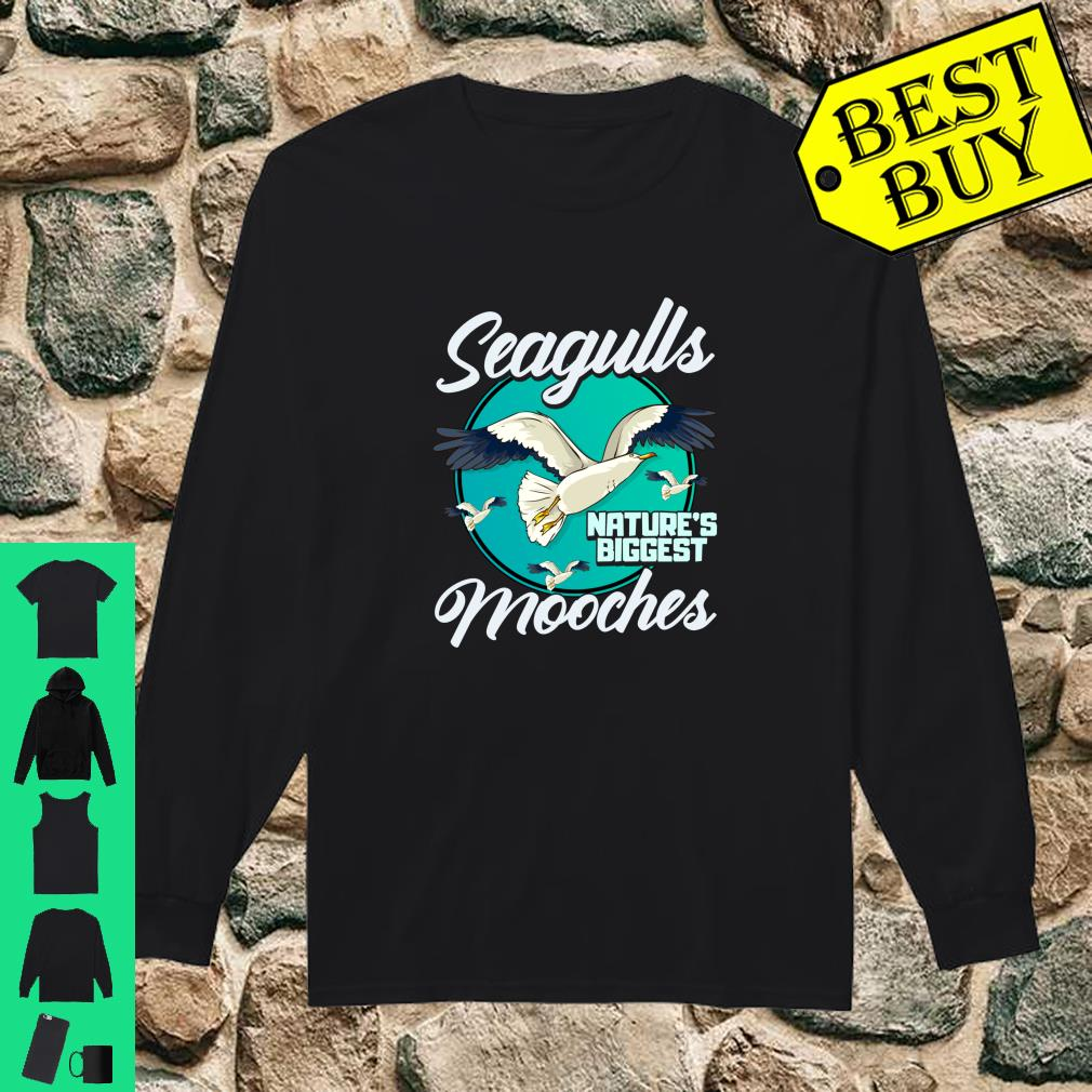 Nature's Mooches Seagulls Bird Beach Bird Gift shirt long sleeved