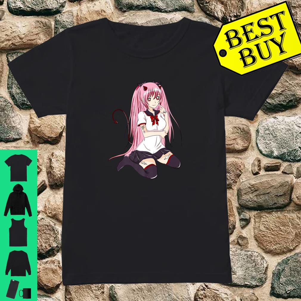 Nu Goth Pastel Goth Sexy Japanese Anime Girl Shirt ladies tee