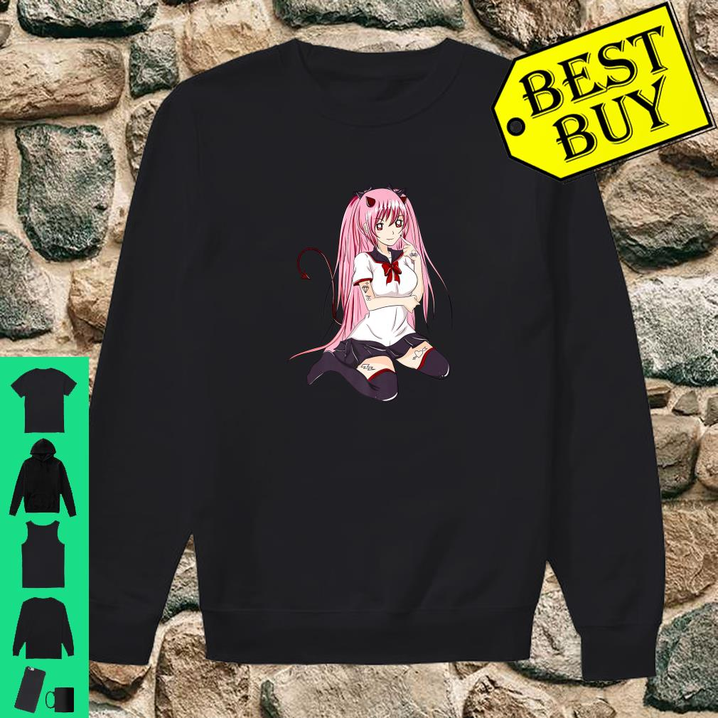 Nu Goth Pastel Goth Sexy Japanese Anime Girl Shirt sweater