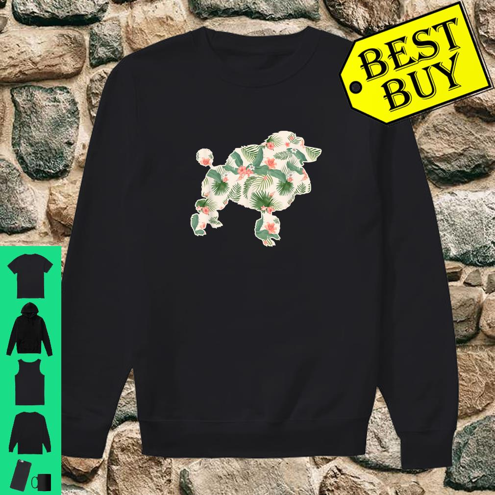 Long Sleeve Shirt Poodle Floral Tee Shirt